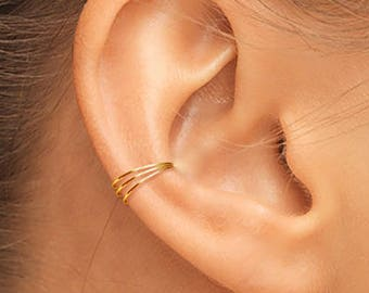 Gold Ear Cuff, Small Ear Cuff, Ear Cuff, Gold Filled Ear Cuff, Band Ear Cuff, Plain Ear Cuff, Thin Ear Cuff, Gold Ear Cuffs, Side Ear Cuff