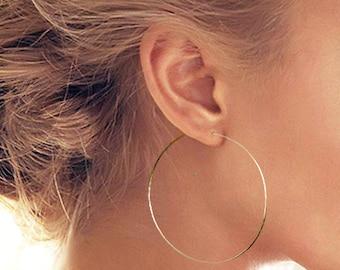 e794933fb Silver Hoop Earrings, Large Hoop Earrings, Thin Hoop Earrings, Silver Hoops,  Large Hoops, Skinny Hoop Earrings, Silver Hoop, Hoops