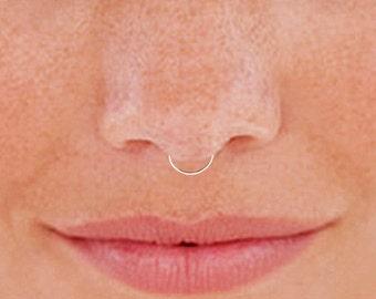 Fake Nose Hoop, Fake Septum Ring, Faux Septum Ring, Fake Septum Hoop, Faux Septum Hoop, Silver Septum Hoop, Silver Nose Hoop, Septum Hoop