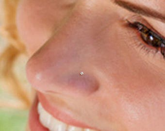 Teeny Tiny 1mm CZ Sterling Silver Nose Stud, Nose Ring, Silver Nose Stud, Sterling Nose Stud, 1mm Nose Stud, Tiny Nose Ring, Nose Stud, SN1