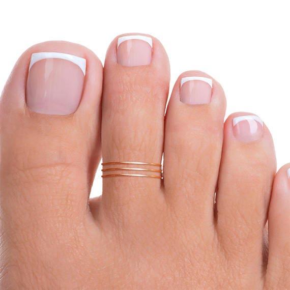 14k Rose Gold LOVE Engraved Toe Ring