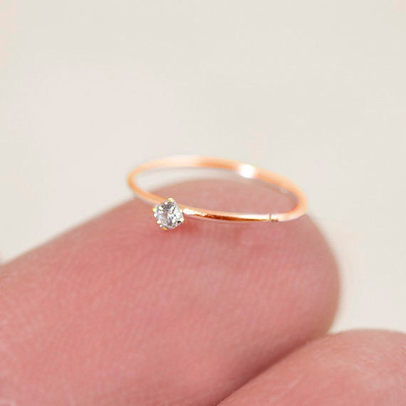 Rose Gold Nose Hoop Gold Nose Ring Tiny Nose Hoop Tiny Nose Etsy