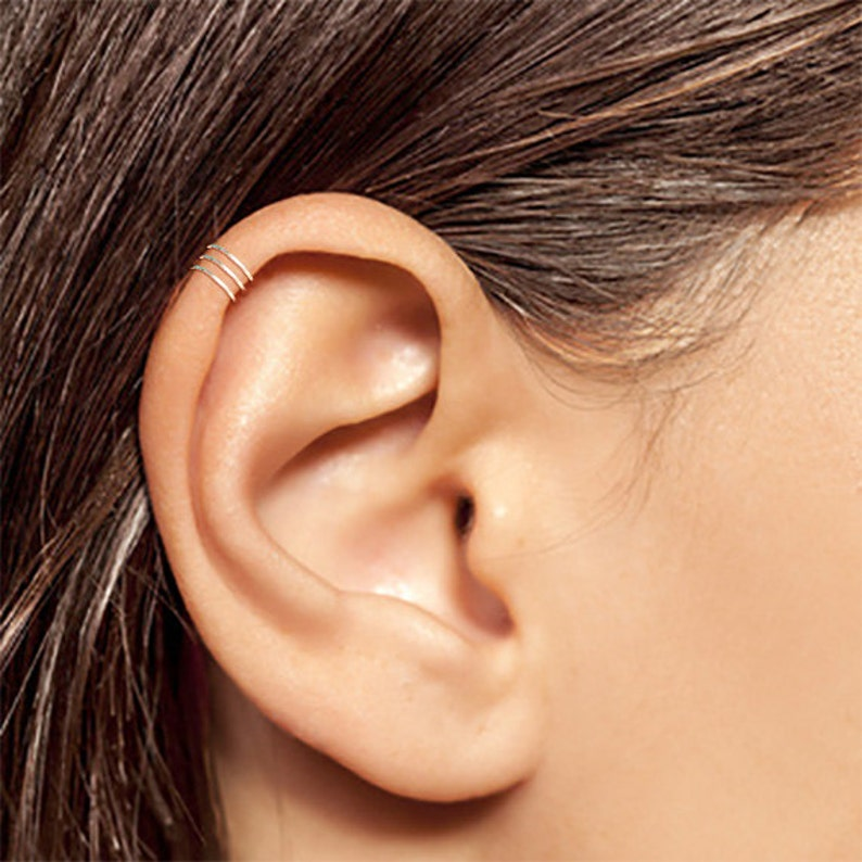 Silver Ear Cuff Tiny Silver Ear Cuff Ear Cuff Small Ear image 0