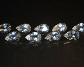 9 x 14 (4.94ct) Pear Shape White Topaz Stone