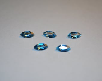 8 x 4 (0.57ct) London Blue Marquise Cut Topaz Stone