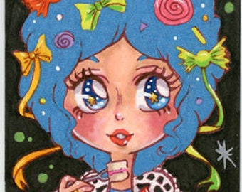 "ACEO Print ""Marie Antoinette Candy"""