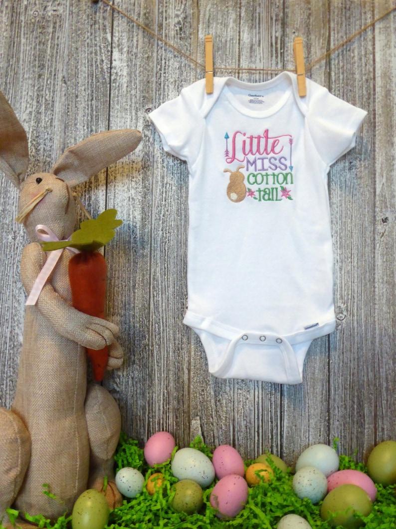 Baby Boy Bodysuit Toddler Boy Shirt Easter Bodysuit Handsome Little Wabbit