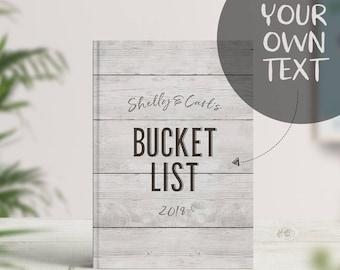 Custom Bucket List, Bucket List 2018, Personalised Writing Journal, Notebook, Couples Bucket List Book, Wedding Gift, Anniversary Gift