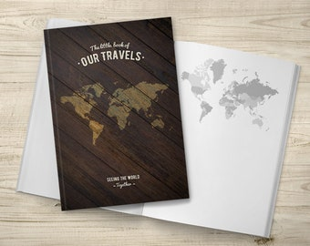 Notebook With World Maps Couples Travel Holiday Journal Traveller Couple Birthday Gift Idea Soft Cover Book Vacation Planner Journey