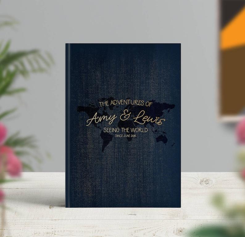 Elegant Travel Journal Personalised Travel Notebook Travel image 0