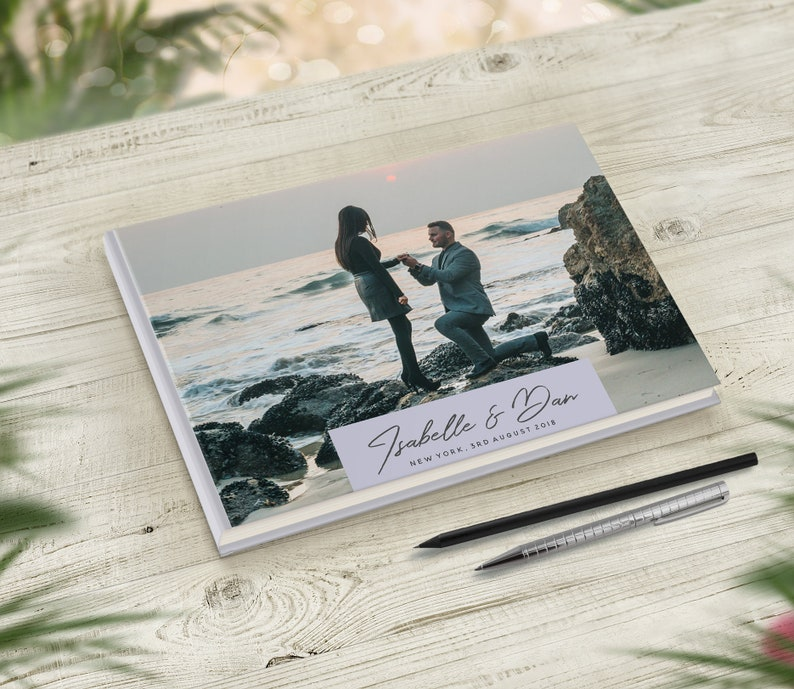 Custom Photo Book Travel Wedding Guestbook Travel Theme Photo Guest Book Personalised Bridal Shower Guestbook Destination Wedding