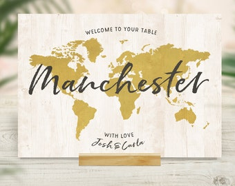 Travel Table Name Card