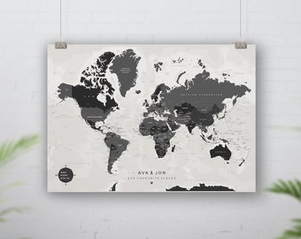 Personalised Push Pin Travel Map, Places Been Pin Board Map, Foam Board Travel map, Adventure Map, Our Travels, Pin your travels,