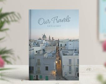Our travels photo book, Custom with your photo cover, Travel journal, Traveller notebook, Bucket list book, Trip, Adventure, Guestbook