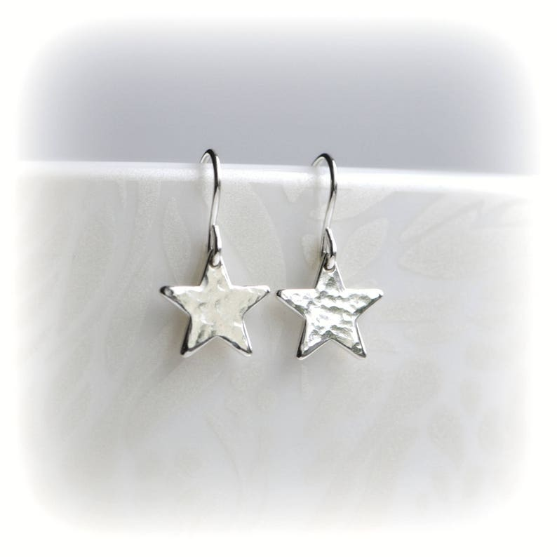 906ab2b24 Silver Star Earrings Tiny Celestial Earrings in Sterling | Etsy