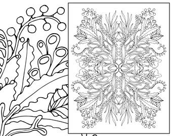Coral Adult Coloring Page Sealife Sheet Colouring Book Printable Digital