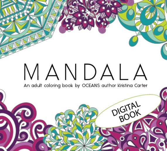 mandala coloring book adult coloring book intricate | Etsy
