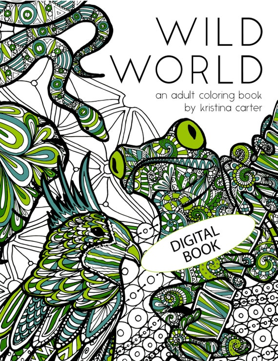 Animal adult coloring book animal colouring sheets digital colouring book animal zentangle coloring book blank coloring intricate pdf from
