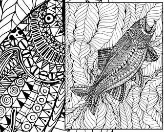 Floral Coloring Page Adult Coloring Page Digital Flower