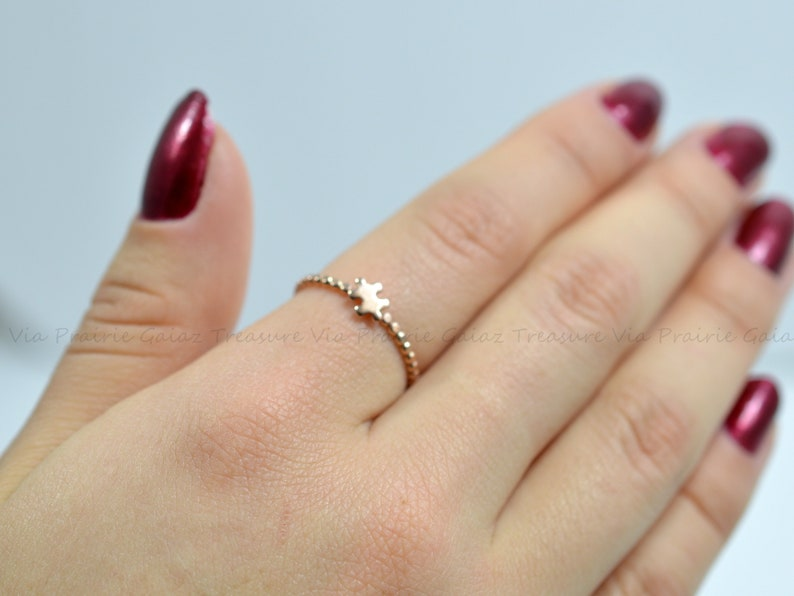 Autism Awareness Day Dainty puzzle ring Tiny Silver Puzzle ring Thin Rose Gold ring Gift for her Gold Puzzle ring Puzzle piece jewelry