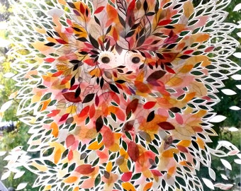 """Enhanced reproduction of the painting """"Autumn coat"""""""