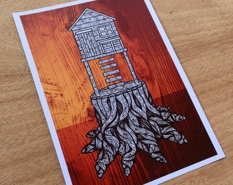 From Trees (Treehouse) - Print