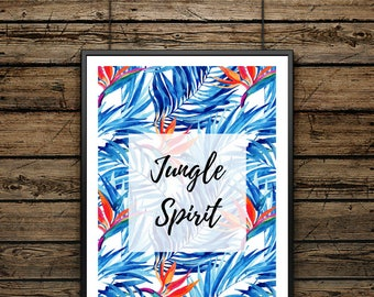 Premium Poster Tropical Vibes - Scandinavian Style- Wall decoration - Typographic Illustration - Gift - For Lovers