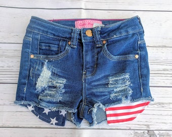 ce80ed04e2 Red white and blue shorts/ toddler shorts/ patriotic/ baby shorts/ forth of  July shorts/ American flag shorts/ girls shorts/ freedom/ flag