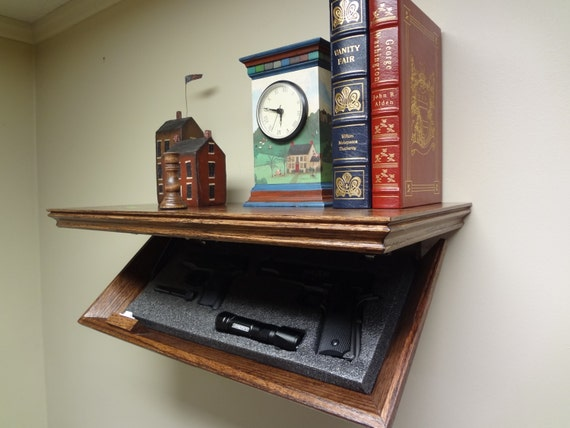 "23"" Concealment Shelf Oak with Magnetic Lock, 23M TimBuck2, Red Mahogany finish"