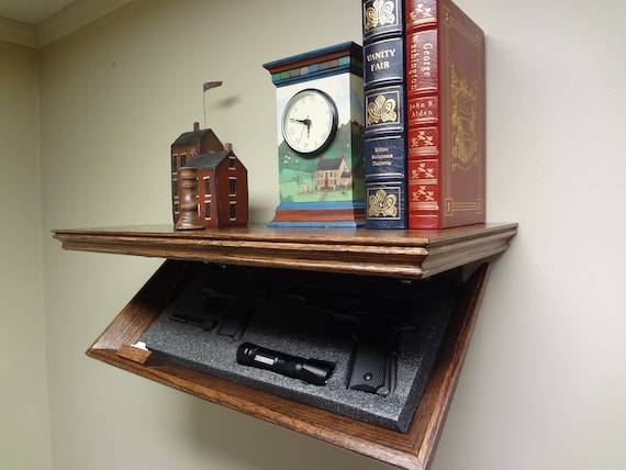 "23"" Concealment Shelf Oak with Magnetic Lock, 23M TimBuck2, Dark Walnut finish"