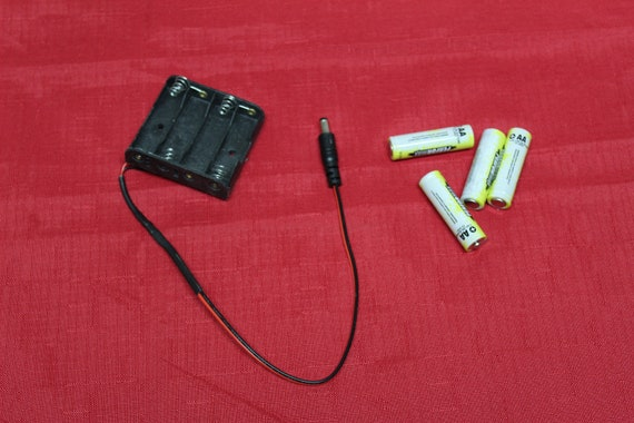 External Emergency Battery Pack (batteries not included) for RFID Lock