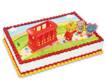 10eae85961 Daniel Tiger s Neighborhood cake decoration Decoset cake topper figurine  trolley