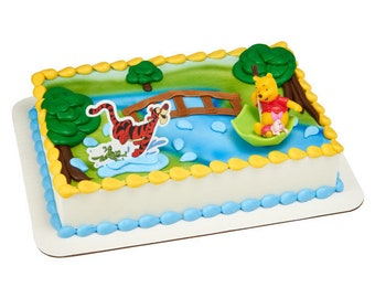 Winnie The Pooh Tigger Piglet Toy Cake Decoration Decoset Topper Set