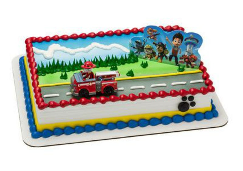 Paw Patrol Marshall cake decoration Decoset cake topper set keepsake toy