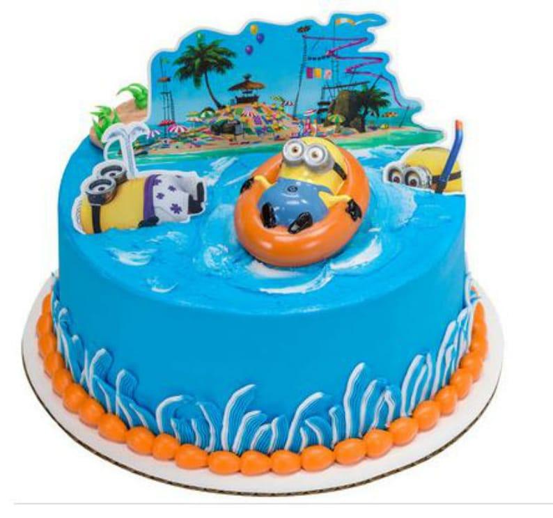 Minions Despicable Me Beach Cake Decoration Decoset