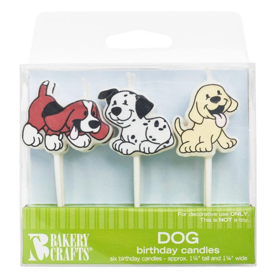 Dog Shaped Birthday Cake Candles 6 From Bakery Crafts