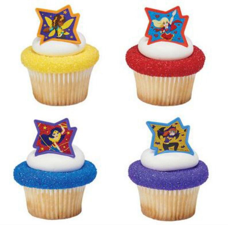 Party Favor Cake Topper 2 Dozen 24 American Flag Usa Cupcake Rings