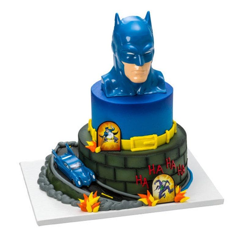 Batman To The Rescue Car Cake Decoration Signature Decoset Etsy