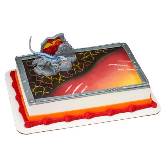 Jurassic World Park Cake Decoration Decoset Topper Set