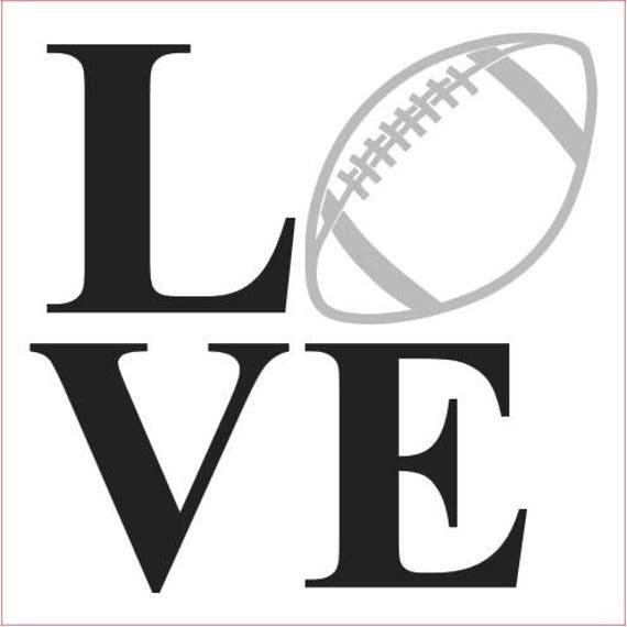 Football Love Svg Love Football Svg Footnall Svg Png Jpg Etsy