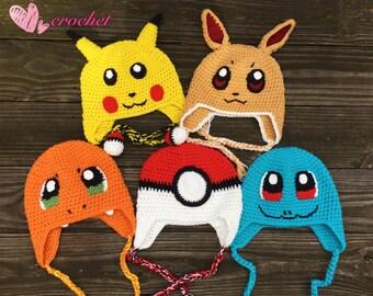 fc9dee6d4bb Crochet pokemon hat