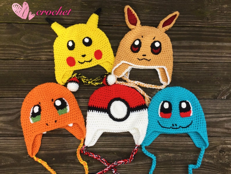 READY to ShipPokemon hat Pikachu hatPokeball hat Squirtle  cc70a80ce0e