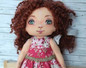 "Rag doll, artist doll, doll ""Rosy"", series ""Nursery"" 29 cm Handmade"