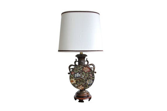 Marboro Cloisonné Asian Style Table Lamp   Etsy