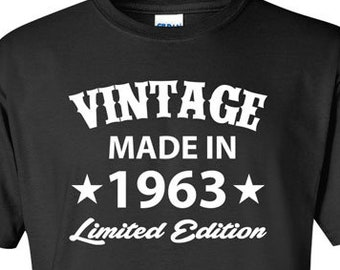Born In 1963 Any Year 55th Birthday Shirt 55 Years Old Gift For Man T Bday Tshirt Mens Ladies Tee