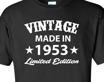Born In 1953 Any Year 65 Years Old Gifts For 65th Birthday T Shirt Gift Him Present Mens Tshirt