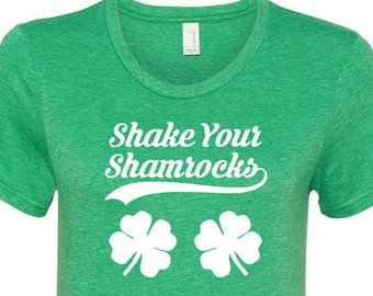 Funny Irish T Shirt St Paddys Day Clover TShirt St Pattys Day Outfit St Patricks Day Shirt Saint Patricks Day Gift for Her Ladies Tee - JM65