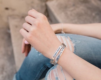 Custom Stamped Aluminum Cuff