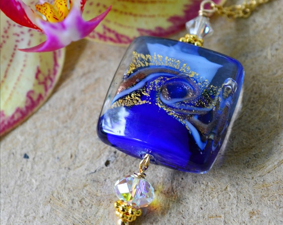 Cobalt Murano Glass Necklace