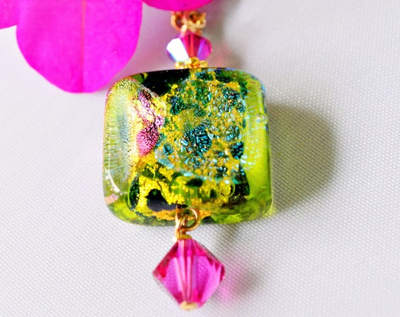 Dichroic Glass Pendant - Murano Glass